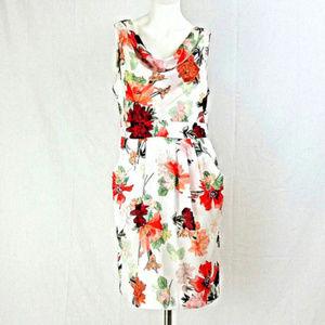 Lillies Cowl Sleeveless w/ Pockets Sheath Dress